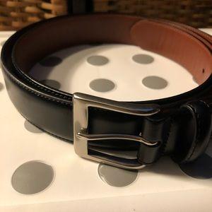 "Coach Men's Black Leather Dress Belt 40"""